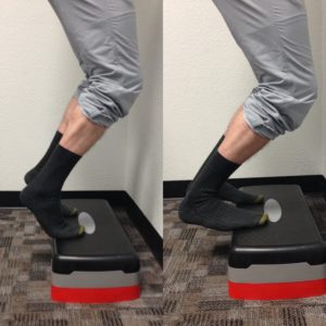 Calf exercise for Achilles Tendinitis Opathy